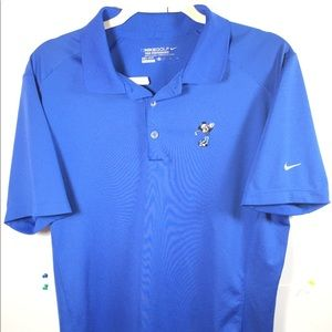 Other - Nike Dri Fit BLUE Golf Polo Shirt Mickey Mouse M